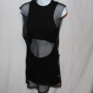 Unif NEW NWT fishnet dress medium m